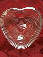 FLAWLESS Exquisite BACCARAT France Art Glass HEART Crystal BOWL DISH CENTERPIECE