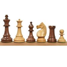 """1920's German Collectors' Chess Pieces Only staunton set- Golden Rosewood - 4.1"""""""