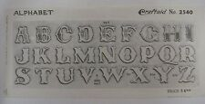 Vtg Craftaid ALPHABET LETTERS Leather Billfold Pattern Craftool #2540 Stohlman