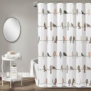Rowley Birds Shower Curtain Blush/Gray Single 72X72