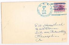 "SHIP COVER: U.S.S. CROWNINSHIELD, JUNE 7, 1933 ""SAN DIEGO, CALIFORNIA"""