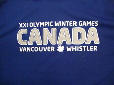 XXI Olympic Winter Games Vancouver Canada Whistler Souvenir Blue T Shirt M