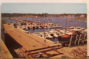 Rhode Island RI Wickford Shipyard Ideal Windlass Co Inc Postcard Old Vintage PC