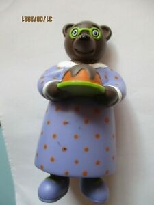 "Figurine Petit ours Brun  "" Maman gateau """