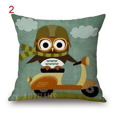 BN lovely owl cushion cover #2 LINEN COTTON