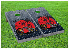 VINYL WRAPS Cornhole Boards DECALS Motorcycle Fans Bag Toss Game Stickers 688