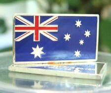 1 oz Australia Flag 100 Mills .999 Silver Plated Bar