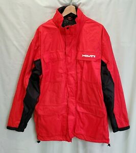 Men's HILTI Hooded Wind Water Proof All Weather Work Power Tools Jacket 2XLT XXL