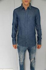 jolie chemise bleu M+F GIRBAUD plaquet tonic taille M NEUF/ÉTIQUETTE valeur 160€