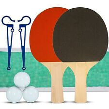Table Tennis Ping Pong 2 Player Set with 3 Balls, 2 Paddle Bats, Net and Clamps