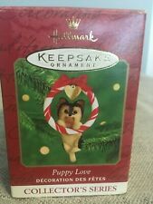 Hallmark Keepsake Ornament Puppy Love Yorkshire Terrier 2000 #10 in the series