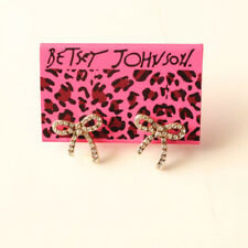 New Betsey Johnson Rhinestone Bow Stud Earrings Gift Fashion Women Party Jewelry