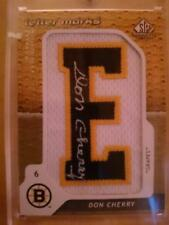 2008-09 SP GAME USED SPGU LETTER MARKS PATCH AUTO NE-DC DON CHERRY /50