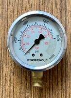 "Enerpac Hydraulic Pressure Gauge psi or bar with 1/4"" NPT Thread G2535L"