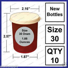 10 NEW Size 30 Dram Empty RX Prescription Bottles Snap Craft Storage Container