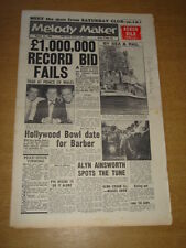 MELODY MAKER 1960 AUGUST 13 TOP RANK NAT GONELLA ACKER BILK HOLLYWOOD BOWL +