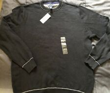 Club Room Mens Long Sleeve Sweater Black Macy's Sz L Large Pullover