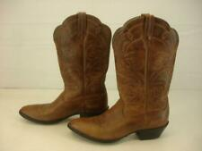 Womens 9.5 M Ariat Heritage Western Brown Leather Cowboy Boots Embroidered Tall