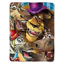 DreamWorks Madagascar Blanket Throw movie Micro Plush Fleece Big Face soft new