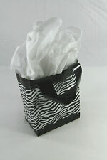 10 ZEBRA Print Plastic goodie treat merchandise gift party handle bags 8 x 5x 10