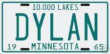 Bob Dylan 1965 MN vintage License plate