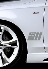 Audi A3 A4 A5 A6 A8 S4 S5 S6 RS4 Q3 Q5 Q7 TT S-Line Decal sticker emblem SI PAIR