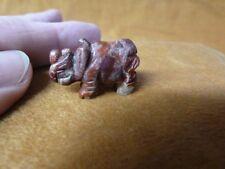 (Y-Rhi-501) little Rhinoceros Red Jasper I love Rhino baby gemstone Figurine