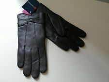 TOM-FRANKS Womans Genuine Brown Leather Gloves Size S/M