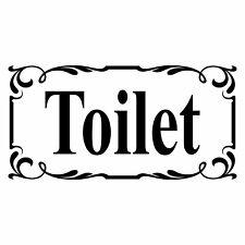 Toilet Door Sign  - Vinyl Decal Sticker