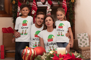 Christmas Elf Family Personalised (ADD NAME/TEXT) Gift Men's Ladies Kids T-shirt