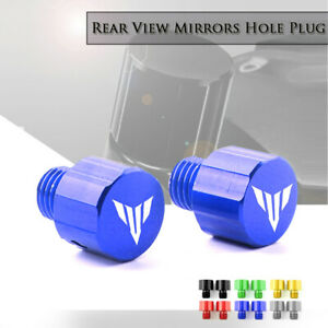 CNC M10x1.25mm Mirror-Hole Plugs Screws Caps for YAMAHA MT09 MT07 FZ09 FZ07 125