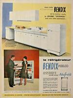 PUBLICITÉ DE PRESSE 1959 RÉFRIGÉRATEUR BENDIX PHILCO ALUFROID LE JAUNE PERNOD