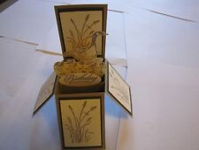 Wetlands Birthday Greetings Goose pop up box Handmade Card Kit w/some stampin up