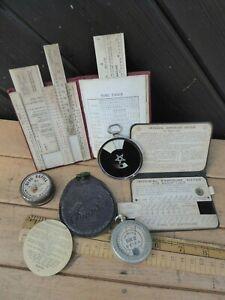Antique / Vintage Ica Diaphot Light meter with case / Watkins Bee Meter +2 books