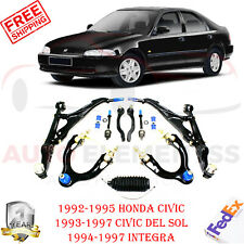 Front Upper + Lower Control Arm Kit For 1992-97 Honda Civic / 1994-1997 Integra