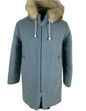 Vintage Hudsons Bay Company Jacket Virgin Wool Parka Coat Light Blue Women's 10