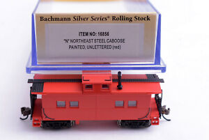 N Scale-BACHMANN Silver Series 16656 Northeast Steel Caboose Unlettered Red NEW