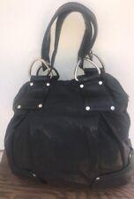 KOOBA WOMEN'S HOBO HANDBAG SOFT BLACK LEATHER  BUCKET STYLE HANDBAG