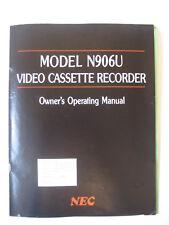 vtg 1980's Nec Video Cassette Recorder Instruction Book vhs beta model N906U vcr