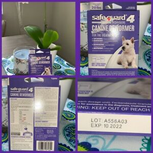 🐶Safe-Guard 4 Canine Dewormer 3 x 4 g 20lbs Exp 10/22 {Brand New}🐶