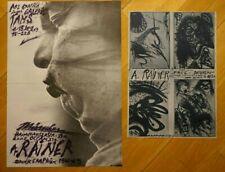 Arnulf Rainer 2 Ausstellungsplakate 1969:Galerie Tams+Atelier Rainer Face Design