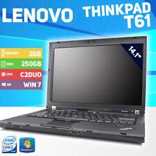 Lenovo ThinkPad T61 8898 Laptop - 250GB HDD - Win 7 - Core 2 Duo - 2GB memory