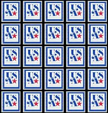 US 5172 Patriotic USA Nonprofit 5c single (25 stamps from coil) MNH 2017
