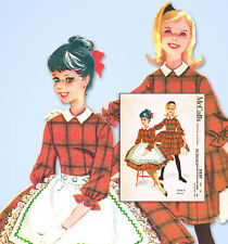 1960s Vintage McCalls Sewing Pattern 5537 Helen Lee Little Girls Dress Size 10
