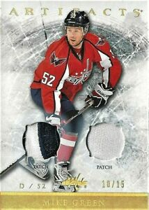 2012-13 Artifacts Gold Spectrum Dual Patches Card of Cap Mike Green 10/15 12-13