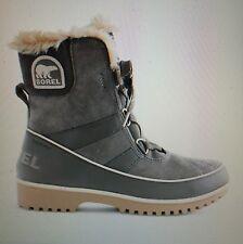 NIB Women's 6 Sorel Tivoli Boots Quarry Gray Waterproof Suede In Box #E2854