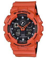 Casio G-Shock * GA100L-4A Anadigi Bi-Color Orange & Black Gshock COD PayPal