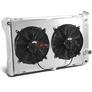 3-ROW FULL ALUMINUM RADIATOR+12V FAN SHROUD FOR 1982-1992 CHEVY CAMARO/FIREBIRD