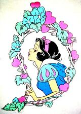 "17"" DISNEY SNOW WHITE 7 SEVEN DWARFS  FABRIC WALL SAFE CHARACTER DECAL CUT OUT"