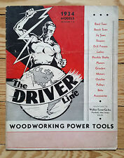 Driver Woodworking Power Tools, price list catalogue 1934, saws drills hardware
